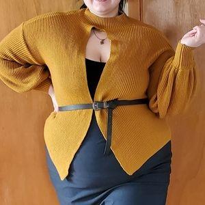 Versatile warm yellow sweater